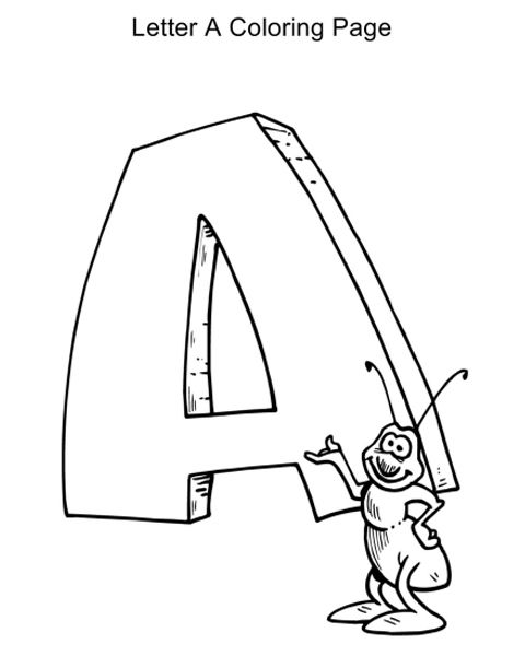 Cute Animal Alphabet Letters ABC Coloring Pages