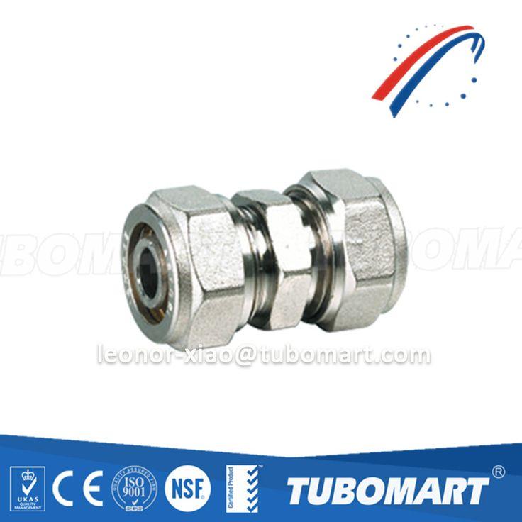 Tubomart OEM brass fitting TM-100 equal straight union screw for pex-al-pex pipe HPB58-3A/DZR/CW617N/CW602N compression