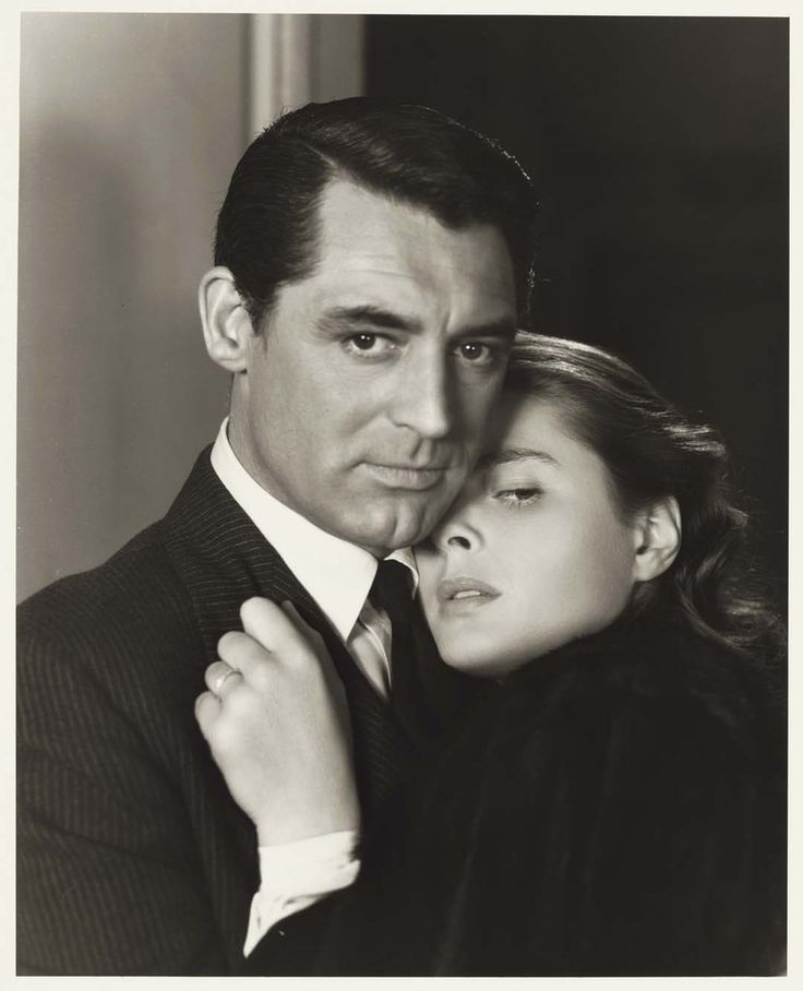 Cary Grant & Ingrid Bergman in Notorious (1946).