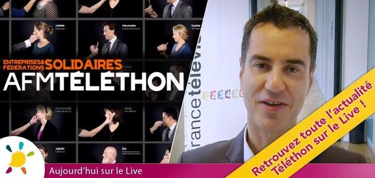 """Découvrez aujourd'hui de nouvelles vidéos Téléthon sur le Live !    - Les entreprises et fédérations solidaires de l'AFM-Téléthon se mobilisent de façon originale    - Laurent Luyat co-animera avec Sophie Davant, l'émission """"Mille et une mobilisations"""", samedi 8 décembre"""