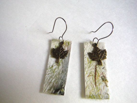 Maine woods earrings camo jewelry nature jewelry by BeAditudes4U