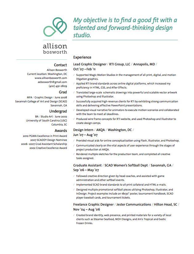 creative resume design by moo