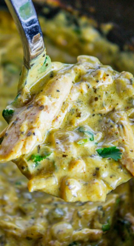 Slow Cooker Basil Chicken in Coconut Curry Sauce ~The best...  The sauce has coconut milk, jalapeno, and red onion. It's not too spicy, but has tons of flavor!