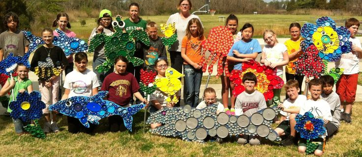 art work for gardens | The Poquoson Elementary School Art Club recently completed an art ...
