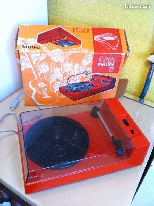 Platine PORTABLE Philips D 5120 Vintage Rouge