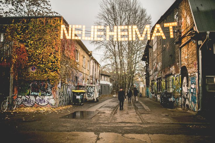 Neue Heimat, Berlin. An old rail­way sta­tion turned into an urban space for con­certs, street food, art and hap­pen­ings.
