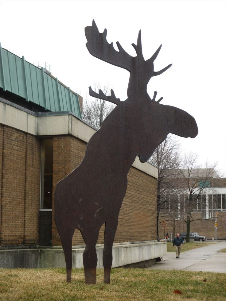 "Charles Pachter's ""moose"", Harbord Street at St. George Street"
