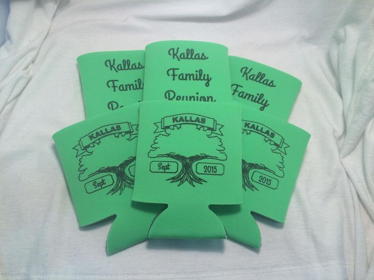 18 best Family Reunion Koozies images on Pinterest | Coolers ...