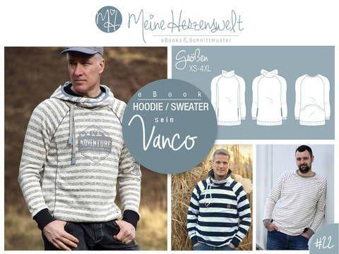 eBook # 22 - sein VANCO - Hoodie / Sweater - Größe XS-4XL bei Makerist