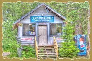 Camp Run-a-Muck: Campground in Hyder, Alaska, USA