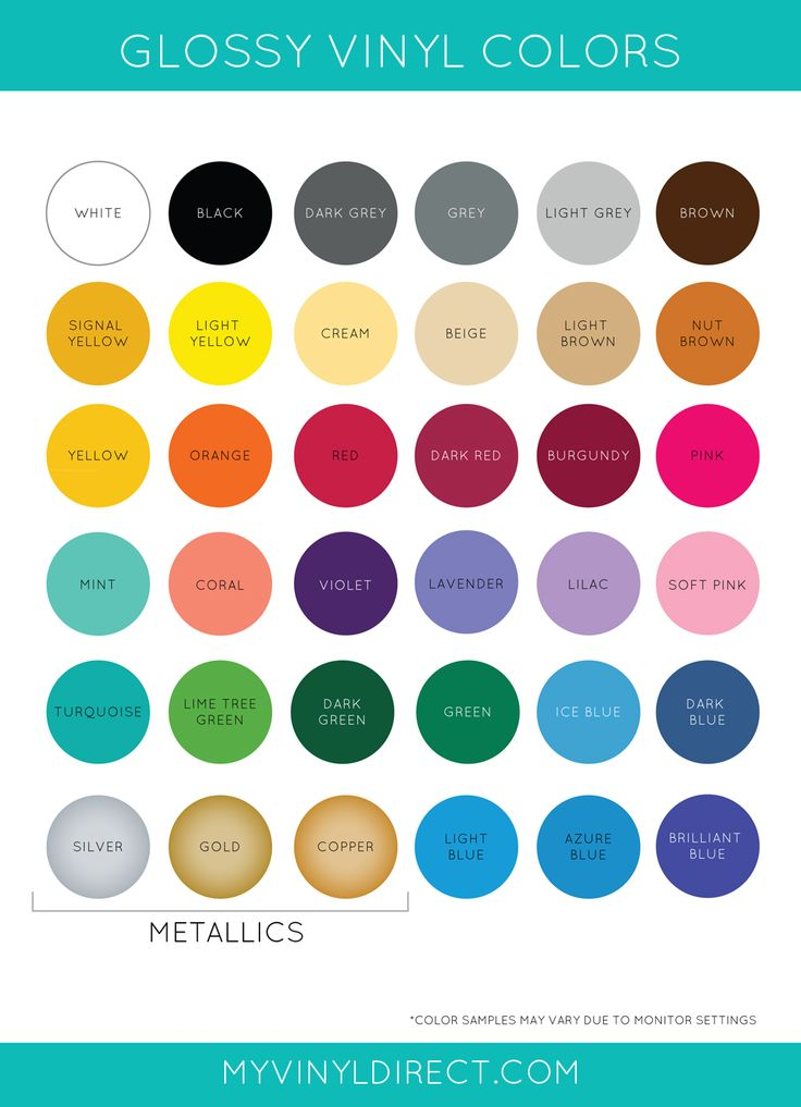 Gloss Vinyl Color Chart My Vinyl Direct - Cheap place to buy Vinyl