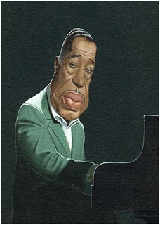 American composer/pianist Duke Ellington (bottie).