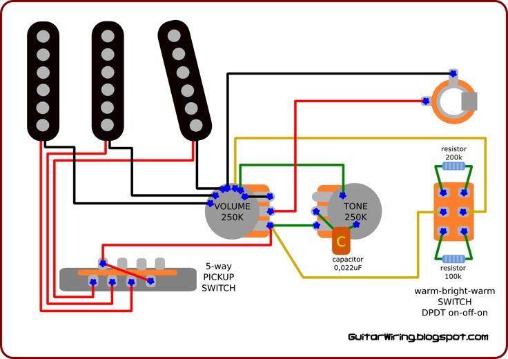 Dpdt Guitar Switch Wiring Diagram - Schematics Wiring Diagrams •