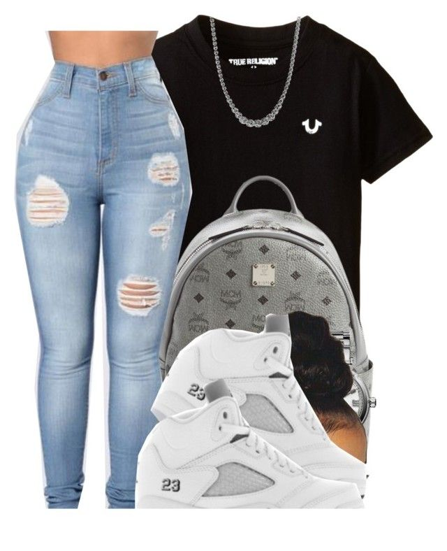 """True Religion"" by xbad-gyalx ❤ liked on Polyvore featuring MCM, Michael Kors, Retrò and Gioelli"