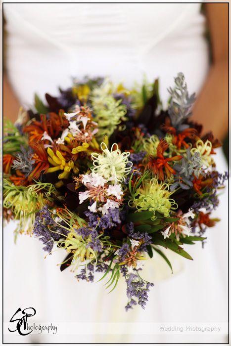 Wedding Bouquet Arrangements | Beautiful Australian Natives (Photo by Scott Carle Photography )