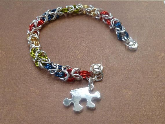 Autism Awareness Bracelet- Asperger Awareness Bracelet-Hand Crafted Autism Awareness Bracelet- Light it up Blue on Etsy, $27.00