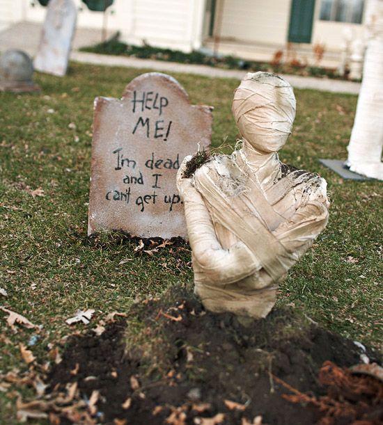 eerie outdoor halloween decorations - Outdoor Diy Halloween Decorations