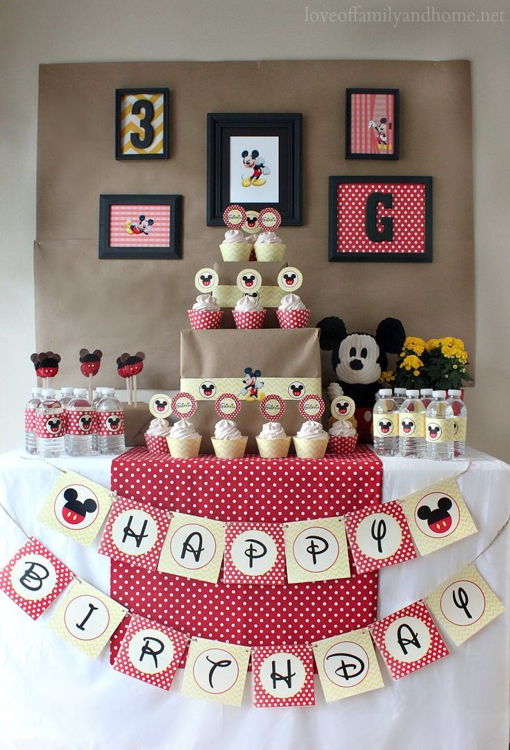 Mickey Mouse Birthday Party Ideas