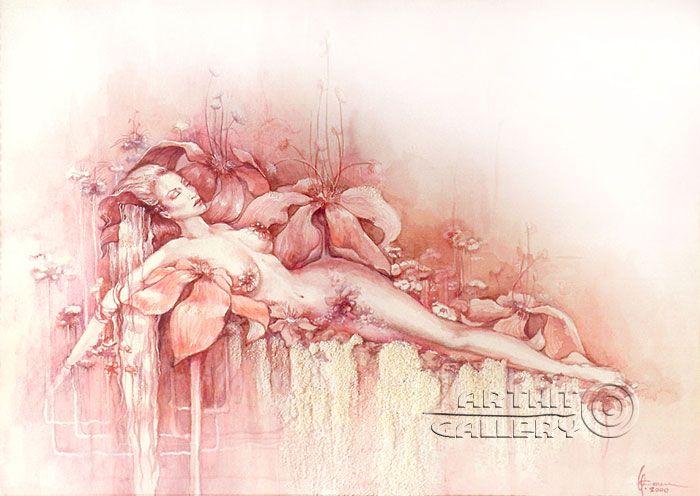 ''Триптих Женщины Венеры - Цветок''. Сочилина Милена. Продажа картин, предметов декоративно-прикладного искусства