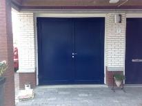 """Houten garagedeuren Model """"Goes"""" www.pvshout.nl"""