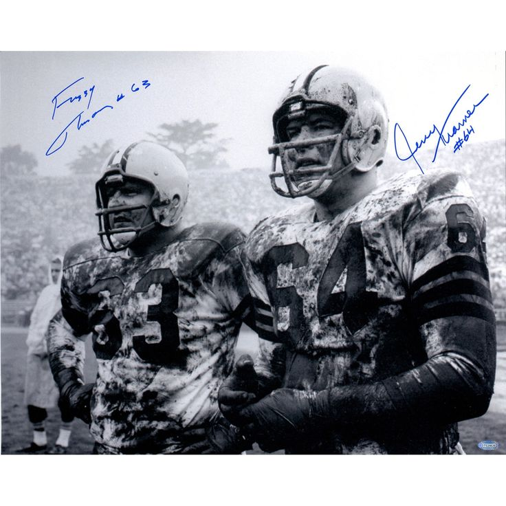 Steiner Fuzzy Thurston/Jerry Kramer Dual Signed 16x20 Horizontal B/W Photo