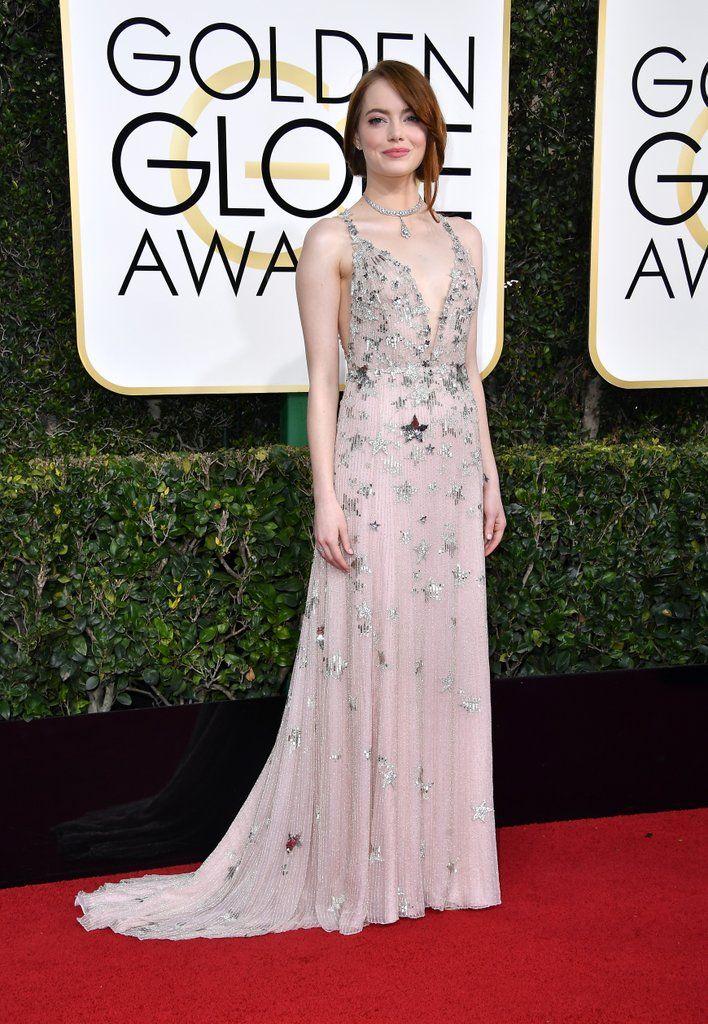 Emma Stone at Golden Globe awards 2017