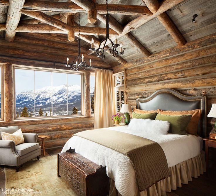 A Wanted Life U2014 Log Cabin Bedroom