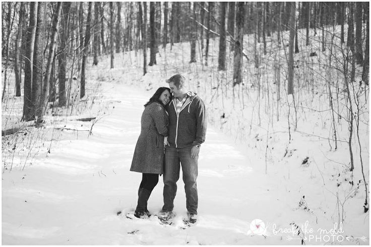 Snowy engagement photo!