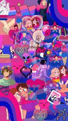 Bisexual Pride, Gay Pride, Sick Of People, Queer Art, Lgbt Love, Arte Disney, Pride Quotes, Aesthetic Iphone Wallpaper, Cool Pictures