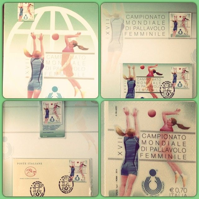 Il francobollo dei Mondiali di pallavolo femminile 2014.