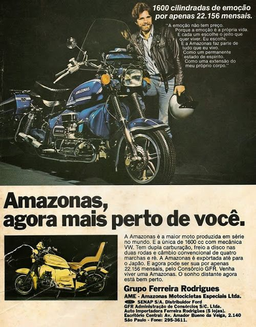 Motos Antigas : Propagandas Antigas - Moto Amazonas