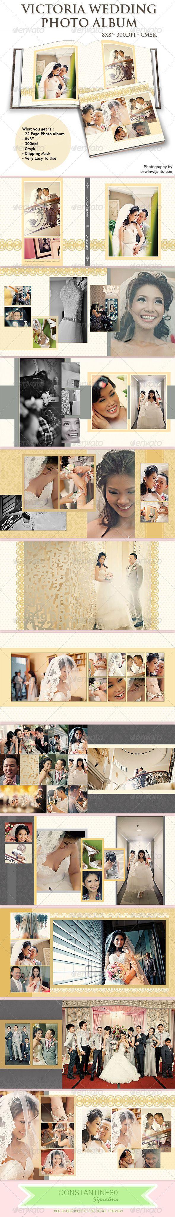 Victoria Wedding Photo Album — Photoshop PSD #photography #album • Available here → https://graphicriver.net/item/victoria-wedding-photo-album/5242113?ref=pxcr
