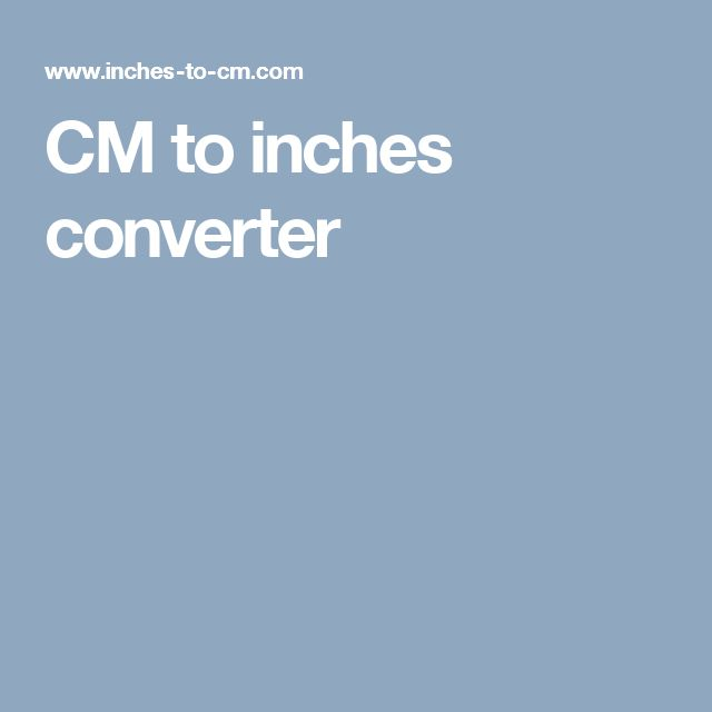 CM to inches converter