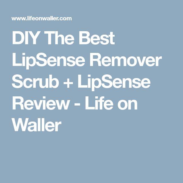 DIY The Best LipSense Remover Scrub + LipSense Review - Life on Waller
