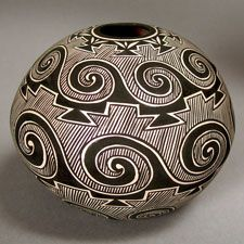 Pottery by Paula Estevan of Acoma Pueblo