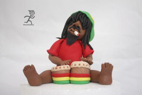 Bob Marley Cake Topper