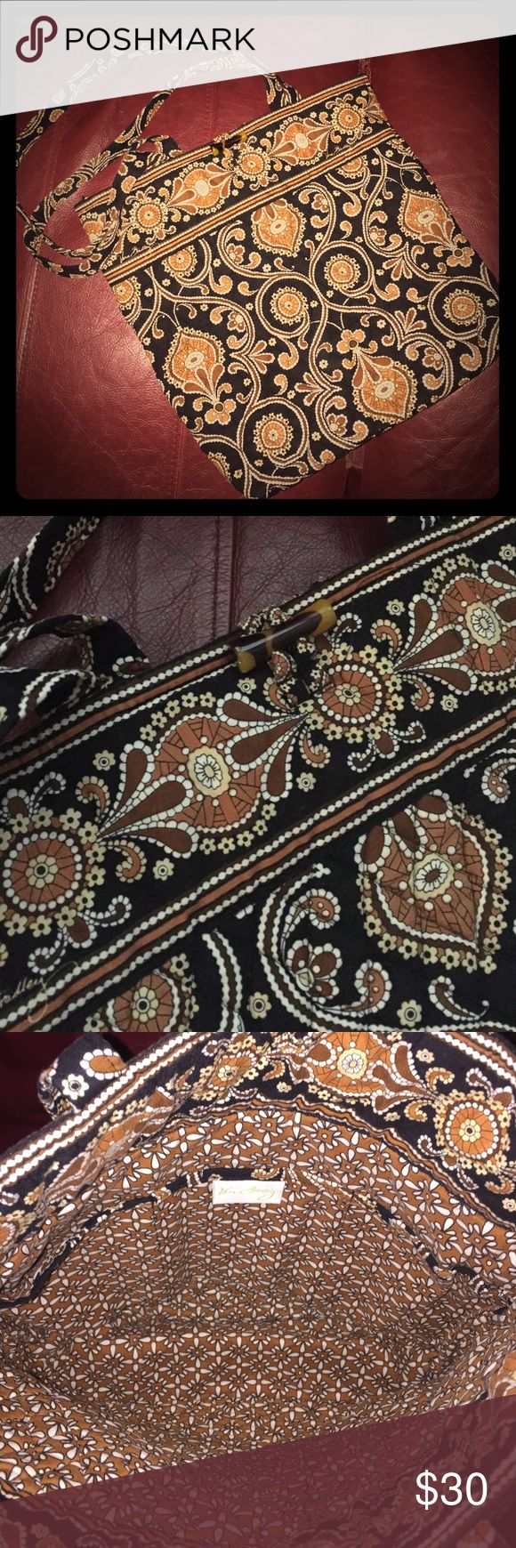 Vera Bradley Caffe Latte Toggle Tote Very gently used! Clean, smoke & pet free home! This bag looks as good as new! Vera Bradley Bags Totes