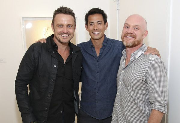 """Matt King Photos Photos - (L-R) Actor David Lyons, actor Ivan Shaw and Matt King attend OTHER Gallery's Los Angeles opening of Lorien Haynes """"Have You See Her?"""" Exhibition on September 8, 2016 in Los Angeles, California. - OTHER Gallery, Los Angeles Ppening of Lorien Haynes 'Have You See Her?' Exhibition"""