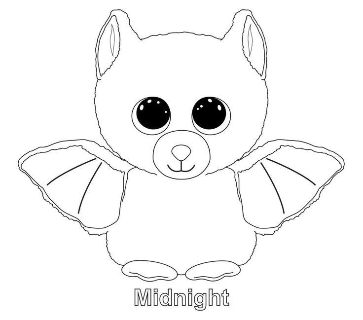 Midnight the Bat TY Beanie Boo