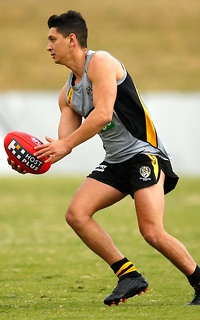 FAST thinking Richmond forward Robin Nahas has turned hero, chasing down a thief in the Melbourne suburb of Prahran.    The Tiger goal-sneak was reportedly enjoying coffee with a female friend when a man on a bicycle snatched the friend's bag, with Nahas quickly taking off to dash after him.   272756-tlsnewsportrait.jpg