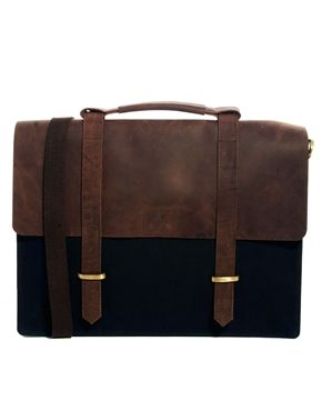 ASOS Canvas and Leather Satchel Man Bag