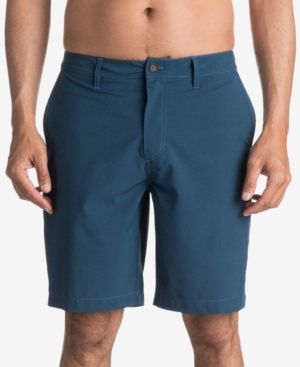 Quiksilver Waterman Men's Vagabond Flat-Front Shorts - Blue 33