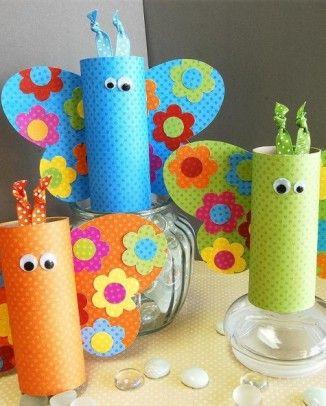 Basteln mit Kindern – Ostern Dekorationen mit Klopapierrollen