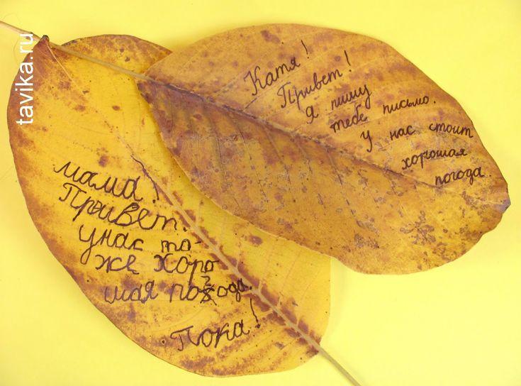 Письма на осенних листьях