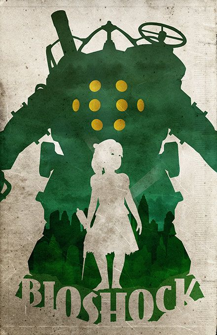 Bioshock poster video game poster by TheCelluloidAndroid on Etsy