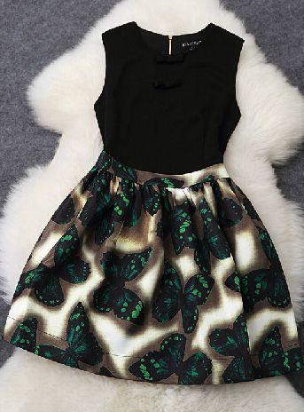 vestido de mariposa