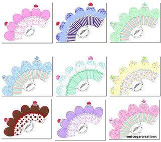 Moldes de Cajitas para Cupcakes: Cupcakes Packaging, Free Cupcakes, Baby Graphi, Cupcakes Boxes, Cupcake Boxes, Para Cupcakes, Cajita Cupcakes, Box Templates, Abox