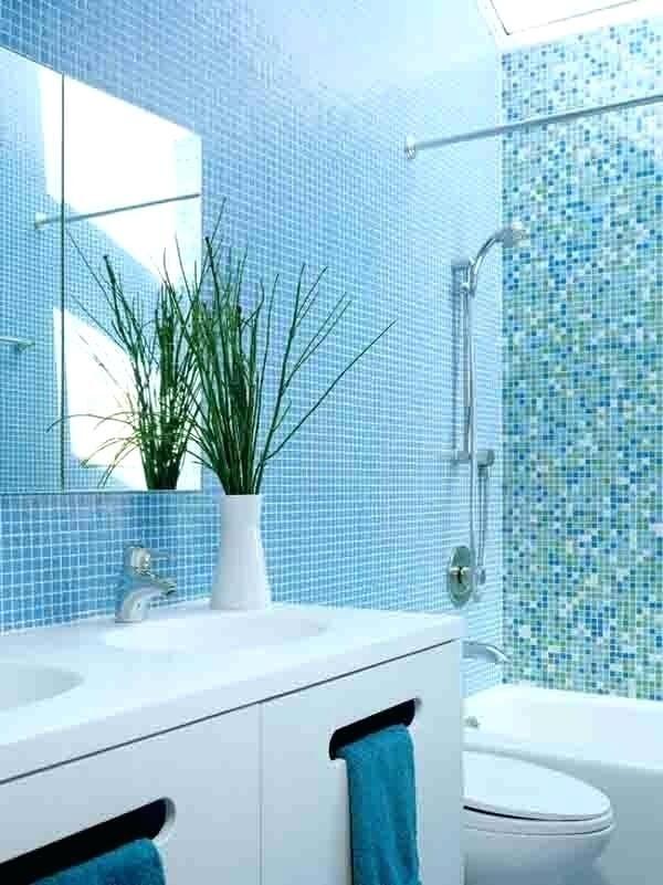 Reflections Blend Aqua Blues And White 1x1 Blue Bathroom Tile Tiffany Blue Bathrooms Trendy Bathroom Tiles