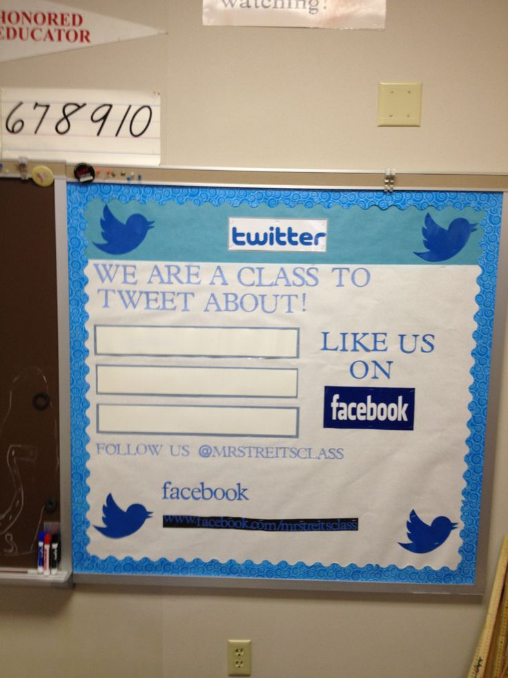 A Twitter and Facebook bulletin board.