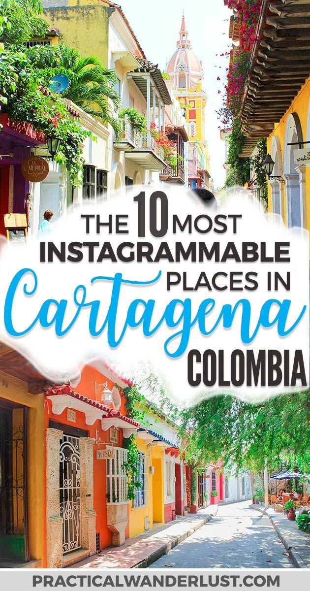 Cartagena, Colombia is one of the most photogenic cities in the world. We've visited this UNESCO world heritage site several times, and we're sharing the most Instagrammable places in Cartagena to take photos during your trip to Colombia! #Travel #SouthAmerica #Colombia